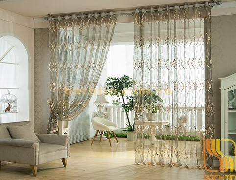 Rèm vải von mỏng phòng khách tại Đà Nẵng