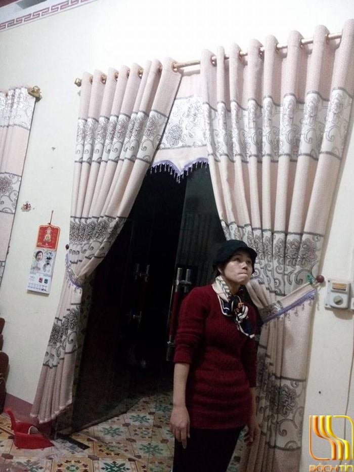 màn cửa phòng khách thêu đẹp ở Đà Nẵng