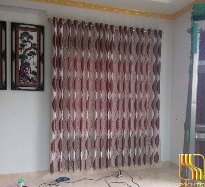 Màn của vải ngấm đỏ phòng ngủ tại Đà Nắng