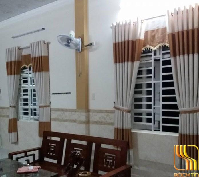 Rèm cửa kem phối màu bò nổi bật tại Đà Nẵng