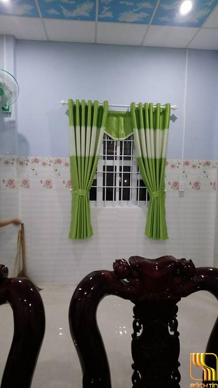 Rèm cửa phòng khách xanh lá chuối tại Đà nẵng