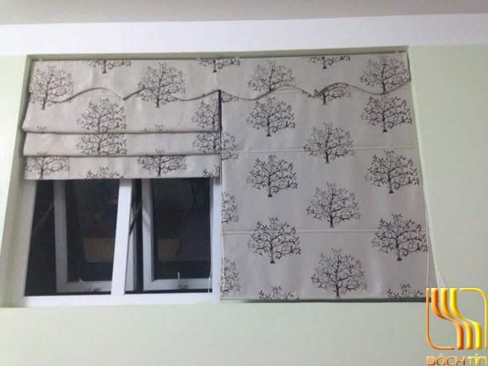 Rèm cửa sổ roman hình cây chống nắng tại Đà Nẵng