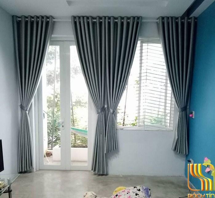 Rèm vải một màu cách nhiệt cho phòng ngủ tại Đà Nắng