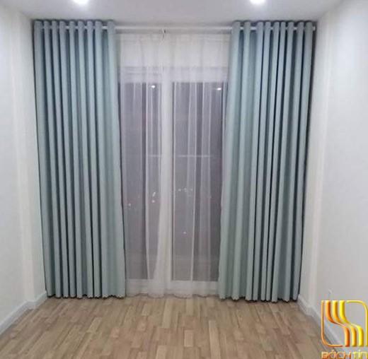 Rèm vải cao cấp màu xanh tại Đà Nẵng