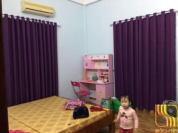 Rèm vải chống nắng tím huê thương tại Đà Nắng