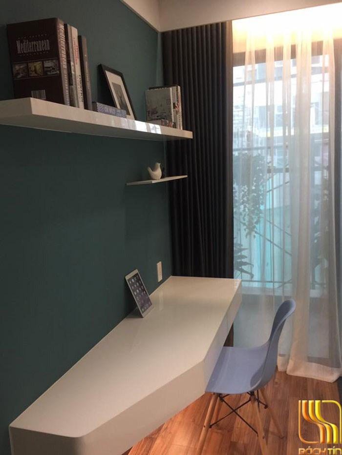 rèm cửa hai lớp lắp ray âm trần định hình cho căn hộ ở Đà Nẵng