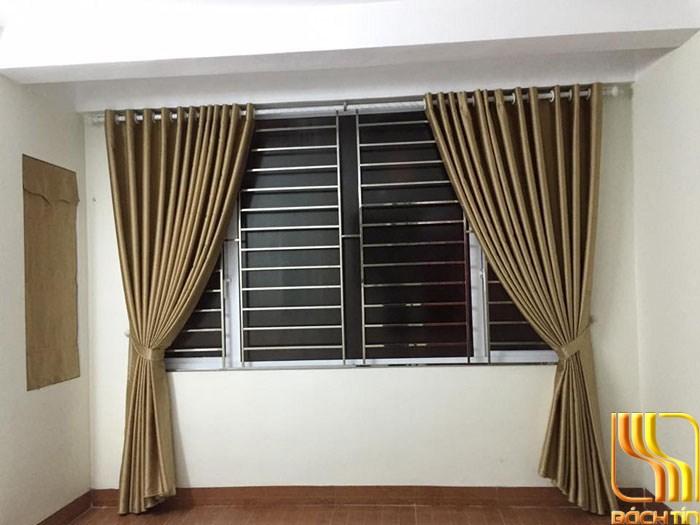 rèm vải cách nhiệt một màu vàng cho phòng ngủ tại Đà Nẵng