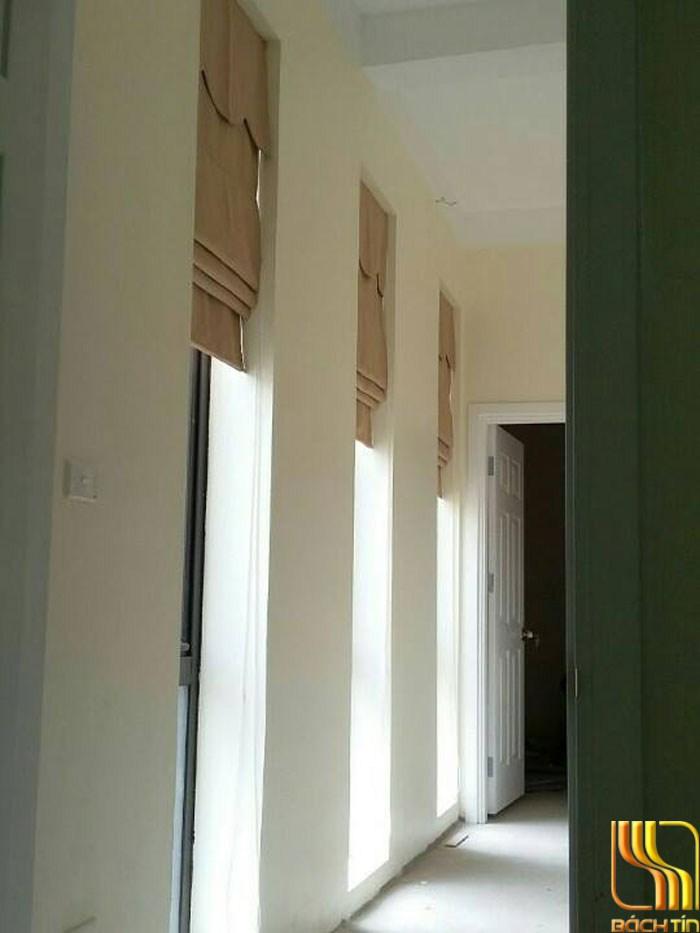 rèm cửa roman cho ô thoáng cầu thang tại Đà Nẵng
