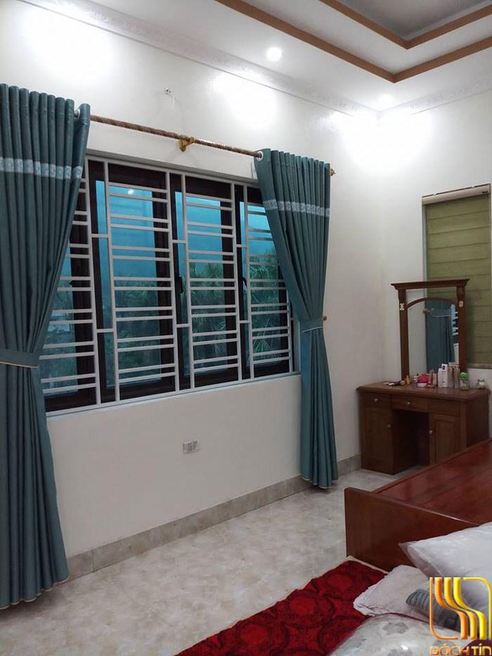 rèm vải màu xanh cho mùa hè nóng nực ở Đà Nẵng