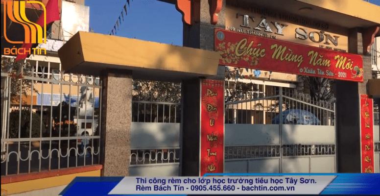 Lắp Rèm cuốn và rèm lá dọc cho trường tiểu học Tây Sơn - Đà Nẵng