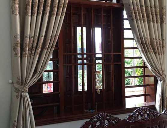 Rèm của sổ phong khách hoa văn đẹp tại Đà Nẵng