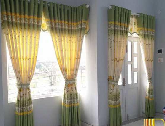 màn cửa màu nâu 2 lớp chống nắng cho phòng ngủ hướng tây tại Đà Nẵng