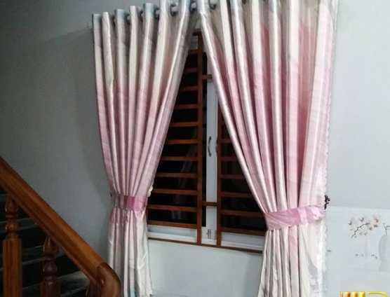 Màn cửa sổ gấm in màu hồng tại Đà Nẵng