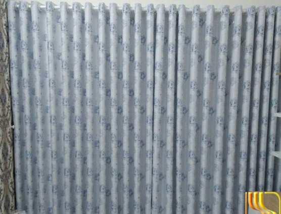 Màn vải gấm trắng xanh cho phòng ngủ tại Đà Nẵng