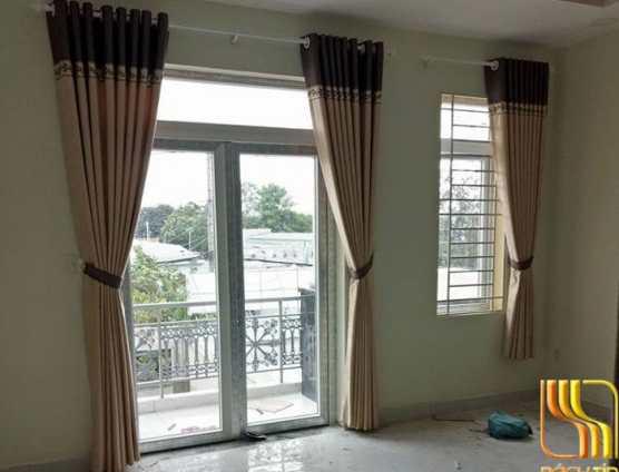 Màn vải phòng khách phối màu tại Đà Nẵng