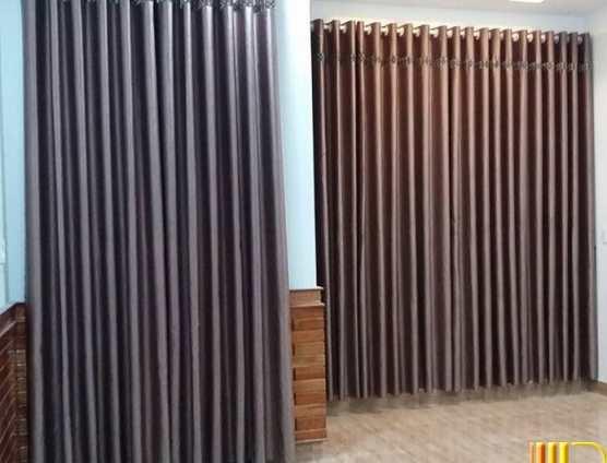 Màn rèm trơn cho phòng khách tại Đà Đẵng