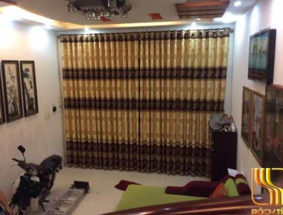 rèm cửa chính phòng khách màu nâu giá rẻ ở Đà Nẵng