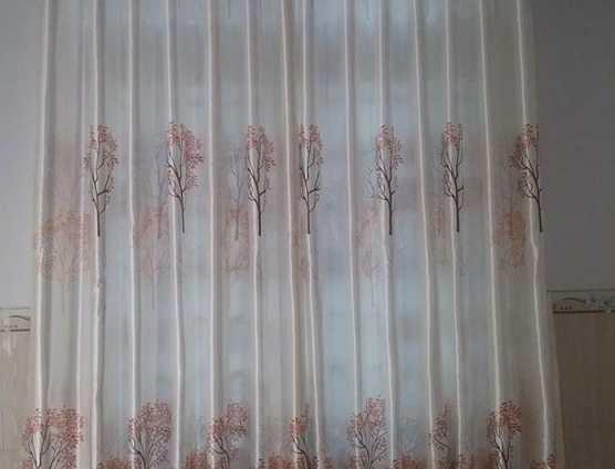 Rèm cửa màu kem in cây cỏ tại Đà nẵng