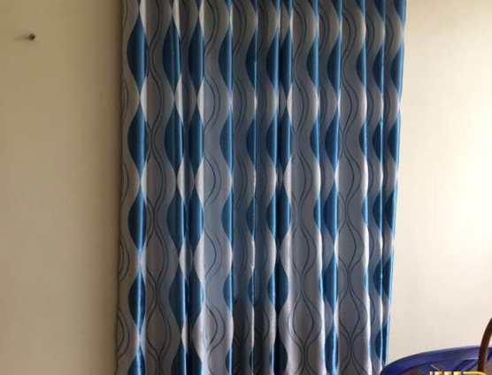 rèm cửa sổ màu xanh dịu mắt cho mùa hè ở Đà Nẵng