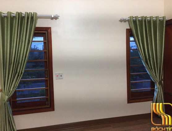 Rèm cửa phòng ngủ hai lớp xanh chống nắng đẹp ở Đà Nẵng