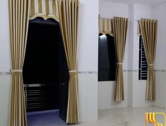 Rèm cửa phòng ngủ sọc dễ thương tại Đà Nẵng