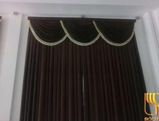 Rèm cửa trơn màu nâu tân cổ điển tại Đà Nẵng
