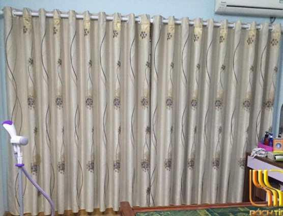 rèm cửa vải gấm in hoa đẹp chống nắng ở Đà Nẵng