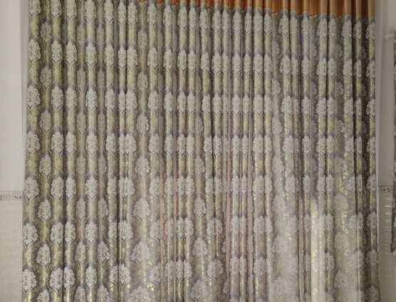 Rèm phòng khách vải gấm thêu cao cấp tại Đà Nẵng