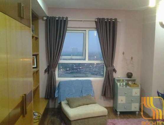 Rèm cửa sổ trơn màu ghi tại Đà Nẵng