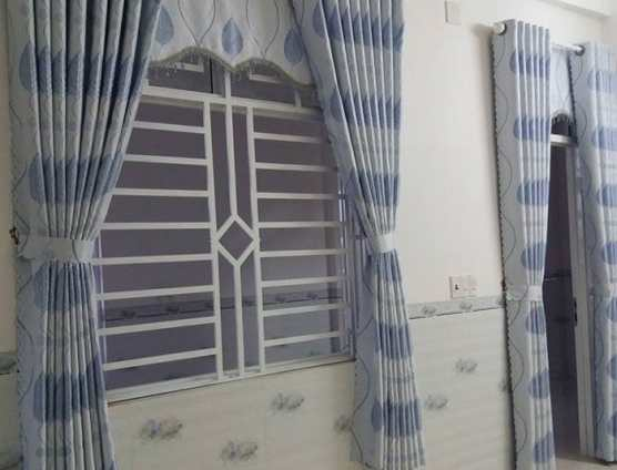 Rèm vải gấm lá cây đẹp tại Đà Nẵng