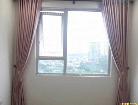 Rèm vải màu phấn hồng trung cư ở Đà Nẵng