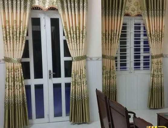 Rèm cửa phòng ngủ hai da in hoa tại Đà Nẵng