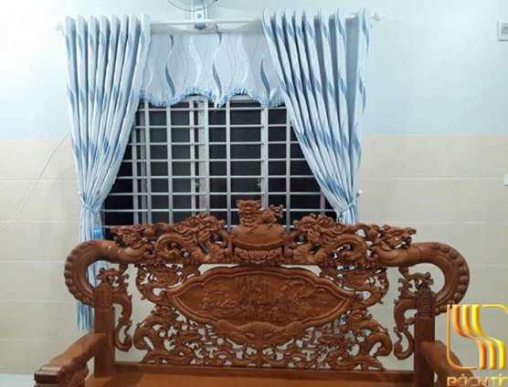 rèm vải phòng ngủ hoa lượn sóng đẹp ở Đà Nẵng