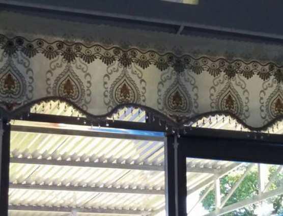 Rèm vải thêu cao cấp màu kem tại Đà Nẵng