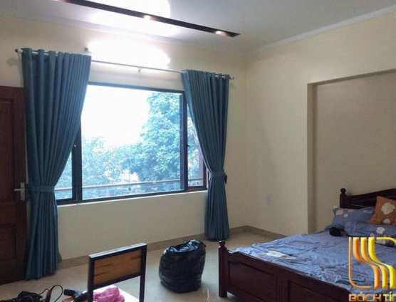 rèm vải xanh trơn chống nắng đục ode đẹp ở Đà Nẵng