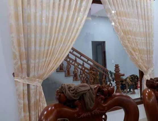 Rèm voan hoa một lớp trang trí tại Đà Nẵng